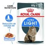 Royal Canin Ultra Light comida húmida em gelatina para gatos