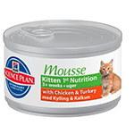 Hill's Feline Kitten 1st nutricion mousse enlatado para gatinhos