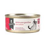 Alimento húmido para gatos Criadores atum com camarão 170 gr