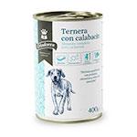 Comida húmida para cachorros Criadores de vitela com curgete