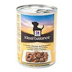 Hill's Ideal Balance comida húmida para cães com frango e legumes