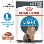 Royal Canin Ultra Light em molho alimento húmido para gatos