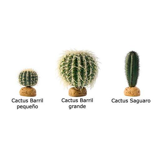 Cactos Barril e Saguaro artificiais para terrários
