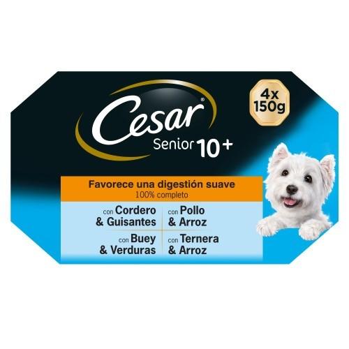 Comida húmida para cães sénior César Multipack