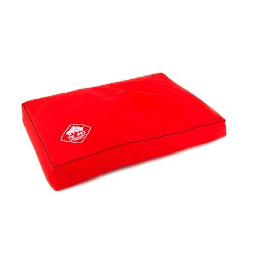 Cama viscoelástica tipo colchão TK-Pet Woof vermelha