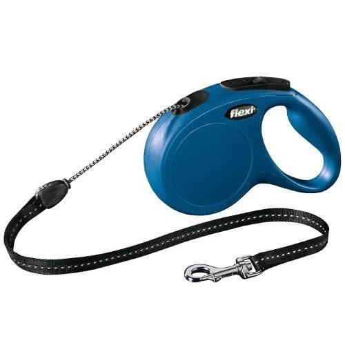 Trela extensível cães Flexi New Classic Basic Cor Azul