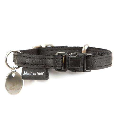 Coleira para cães MacLeather Classic Cor Preto