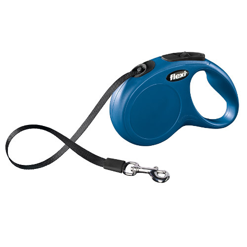 Flexi New Classic Compact trela extensível para cães Cor Azul