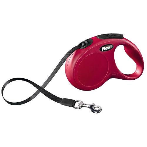 Flexi New Classic Compact trela extensível para cães Cor Vermelho