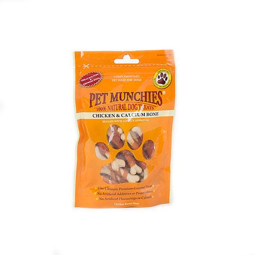 Snacks para cães Pet Munchies Chicken and Calcium Bone ossos de cálcio e frango