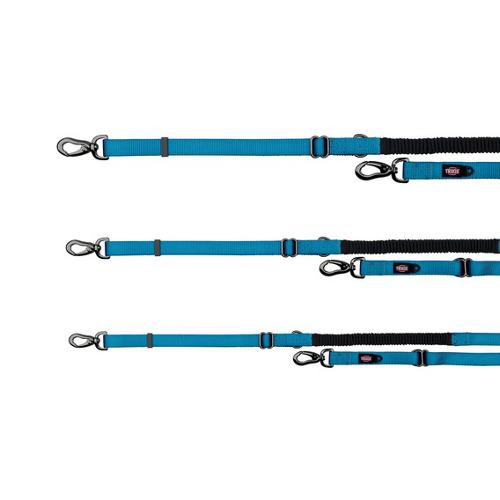 Trela para cães Trixie Ramal Amortiguador azul
