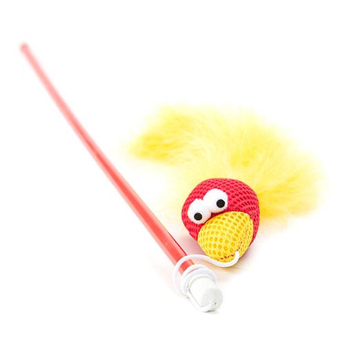 Brinquedo para gatos Trixie Varita com pássaro
