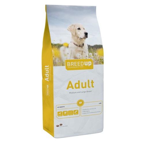 Ração superpremium para cães Breed Up Adult Lamb com cordeiro para raças médias e grandes