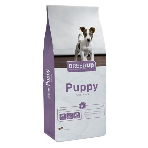 Ração súperpremium Breed Up Puppy para cachorros de raças médias e pequenas
