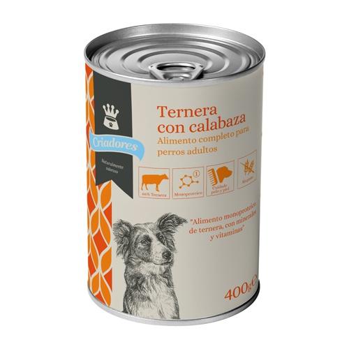 Alimento húmido para cães Criadores vitela com abóbora