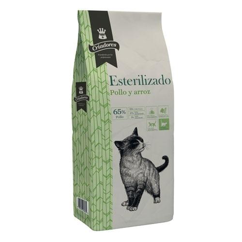 Ração para gatos Criadores especial esterilizado com frango