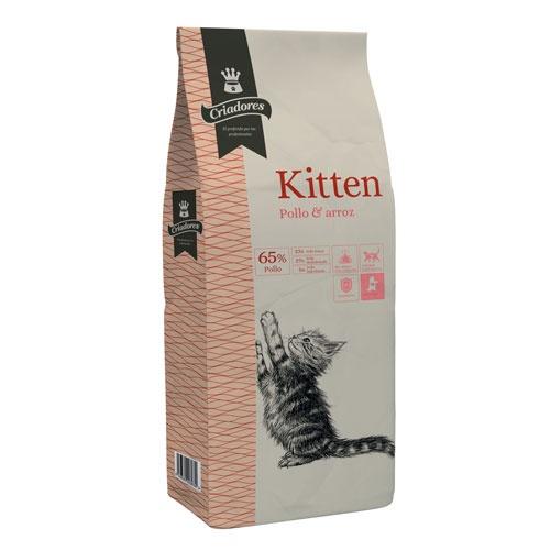 Ração para gatinhos Criadores Kitten com frango