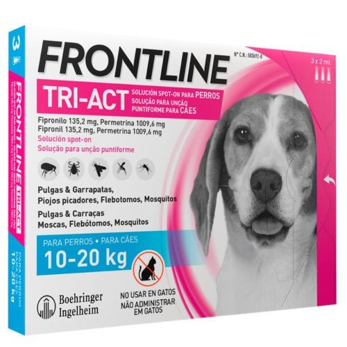 Frontline Tri-Act Pipetas para cães de proteção total 10-20 kg