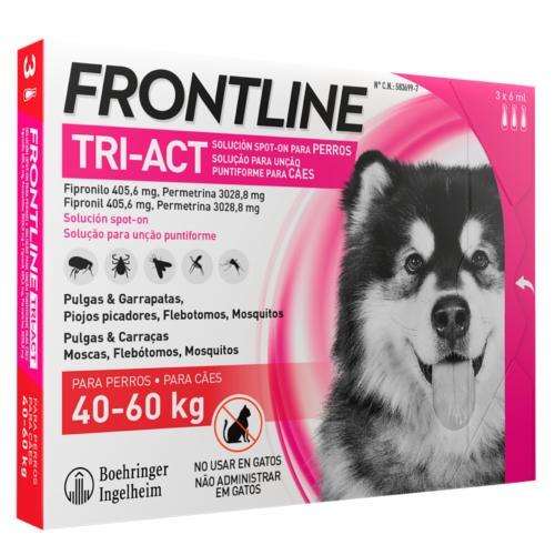 Frontline Tri-Act Pipetas para cães proteção total 40-60 kg
