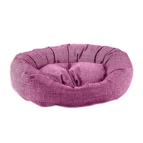 Cama para cães TK-Pet Iris redonda cor roxa deluxe
