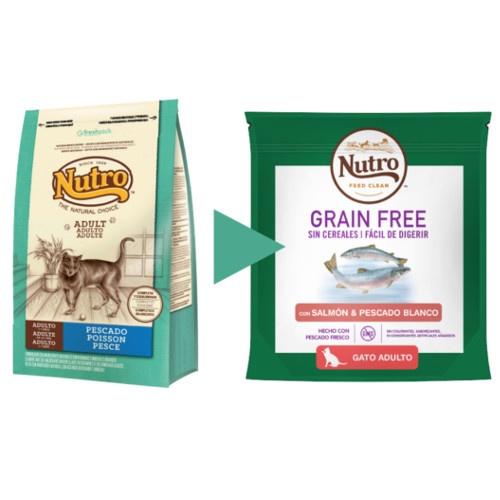 Nutro Grain Free salmão e peixe para gatos