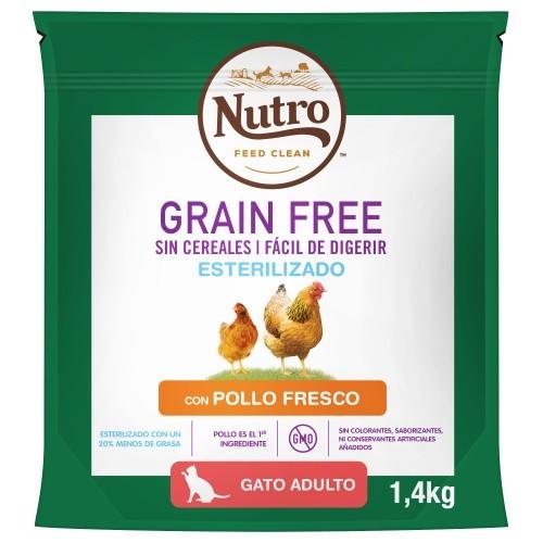 Nutro Grain Free Esterilizado com frango para gatos
