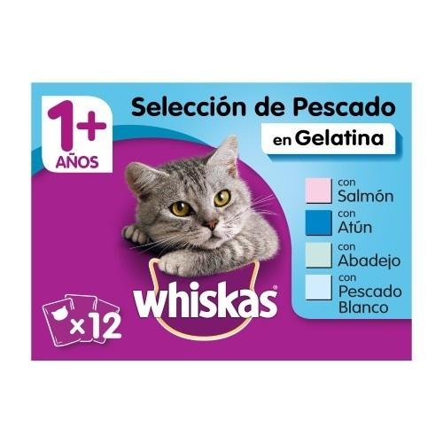 Comida húmida para gatos Whiskas multipack seleção de peixe