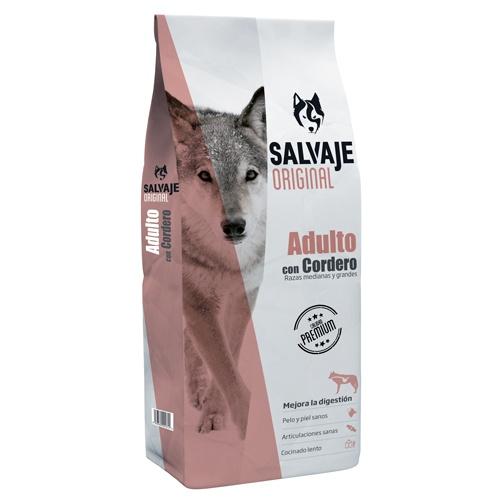 Ração para cães adultos Salvaje Original com cordeiro