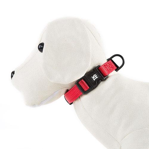 Coleira para cãesTK-Pet Neo Classic vermelha de nylon e neopreno