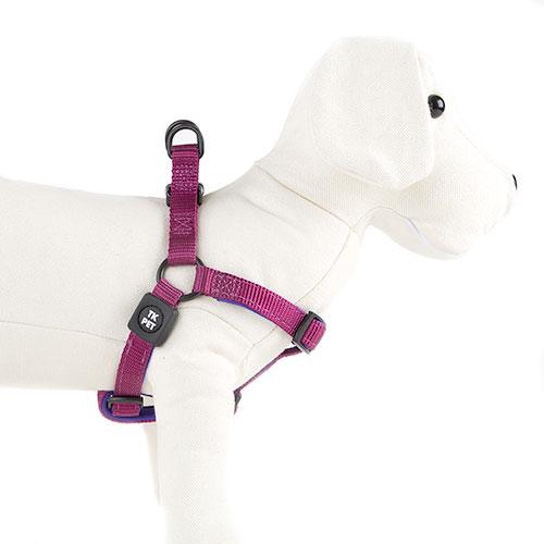 Arnês para cães TK-Pet Neo Classic roxo de nylon e neopreno