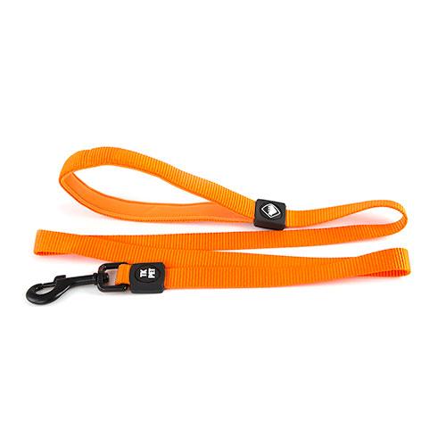 Trela para cães TK-Pet Neo Classic cor de laranja de nylon e neopreno