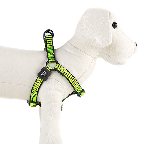 Arnês para cães TK-Pet Urban Night verde lima refletor