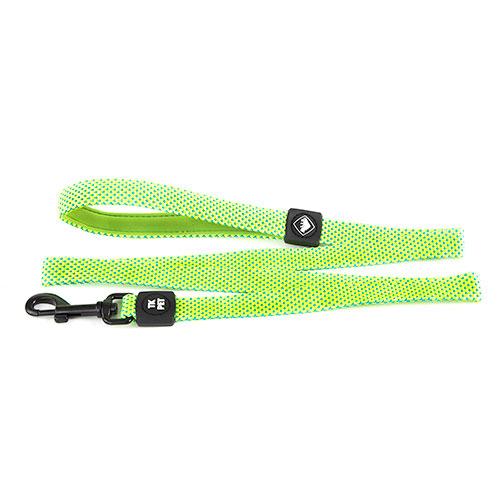 Trela para cães TK-Pet Neo Design verde lima de nylon com pega em neopreno