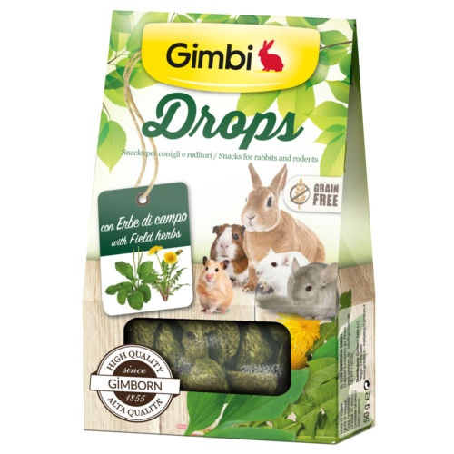 Snacks para roedores GimBi Drops Erva campo