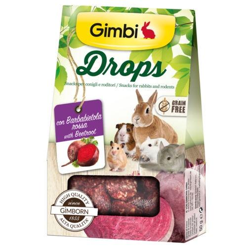 Snacks para roedores GimBi Drops Beterraba