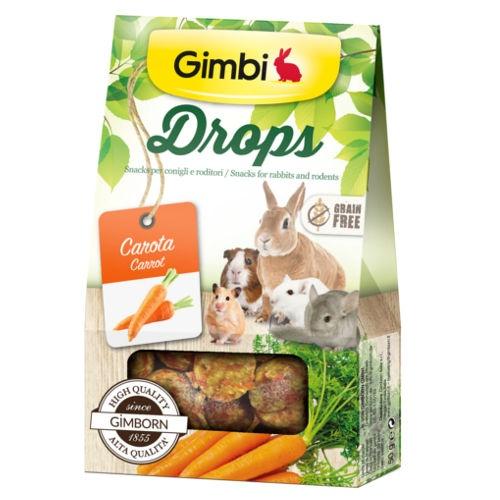 Snacks para roedores GimBi Drops Cenoura