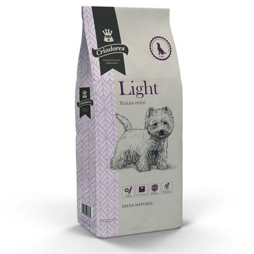 Ração para cães adultos Criadores Light Raças mini
