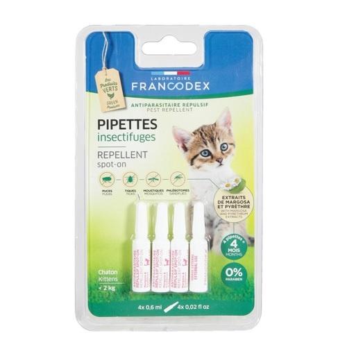 Pipetas antiparasitárias naturais para gatos Francodex