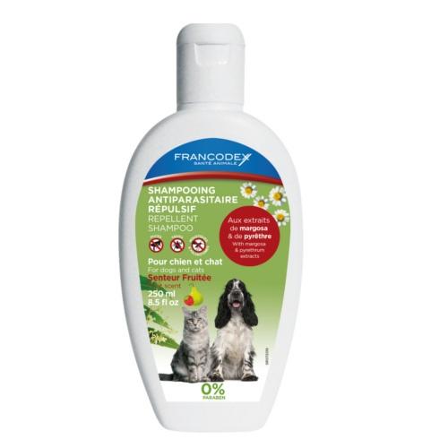 Champô antiparasitário para cães e gatos natural Francodex