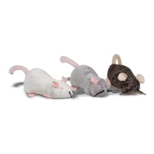 Ratos de peluche recarregáveis de catnip para gatos