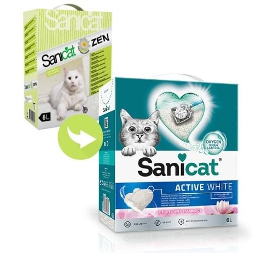Sanicat Zen areia aglomerante efeito relax para gatos