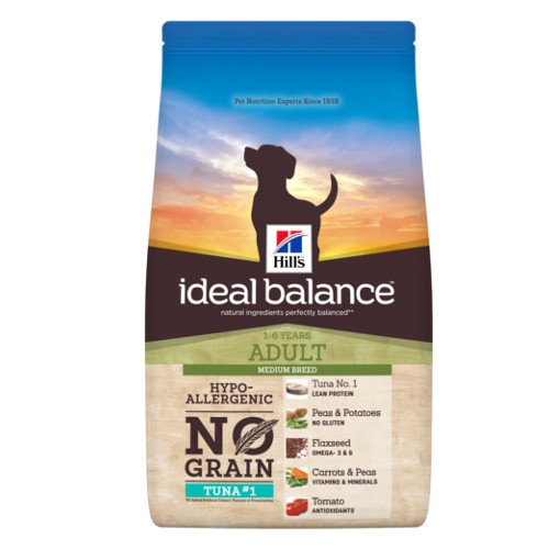 Hill's Ideal Balance Adult No Grain ração para cães com atum e batata