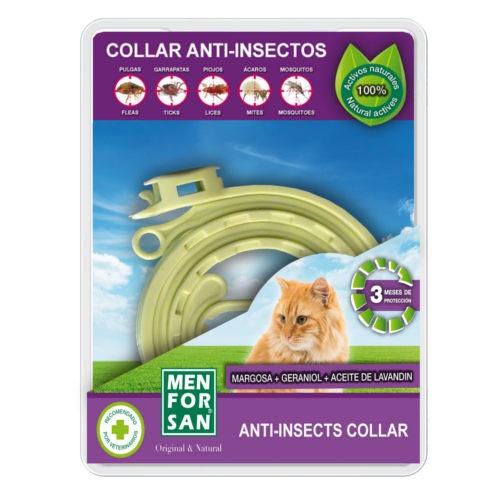 Menforsan coleira anti-insetos para gatos