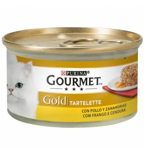 Gourmet Gold Tartelette com frango e cenoura para gatos