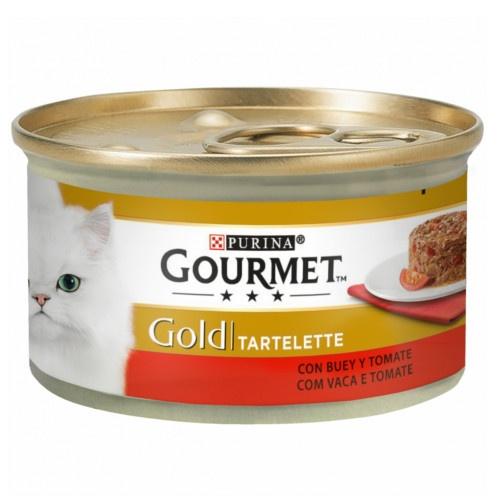 Gourmet Gold Tartelette com carne de vaca e tomates para gatos