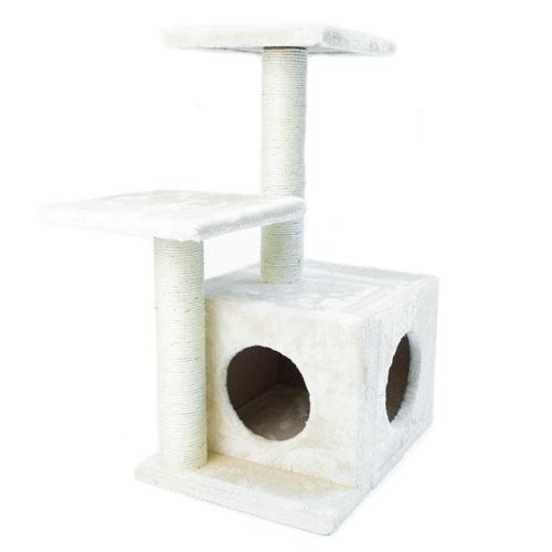 Arranhador com refúgio e plataformas TK-Pet Corvus castanho