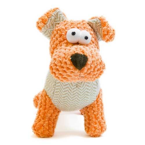 Brinquedo cãozinho laranja de peluche TK-Pet Ringo