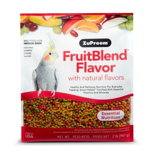Ração Zupreem FruitBlend para calopsitas e catorras