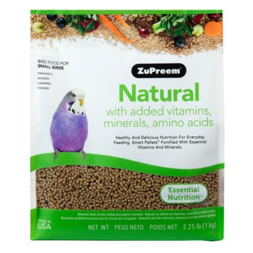 Ração Zupreem Natural para pássaros pequenos