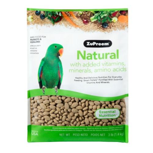 Ração Zupreem Natural para papagaios médios